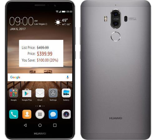 Huawei Mate 9 Cyber Monday 2017 Deal For $400