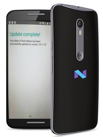 Moto X Pure Edition US Nougat OTA Update