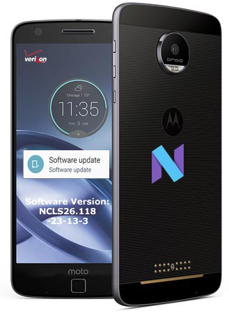 Moto Z Droid Verizon November 2017 OTA