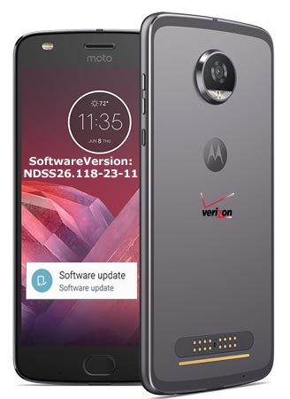 Moto Z2 Play Verizon November 2017 OTA Update