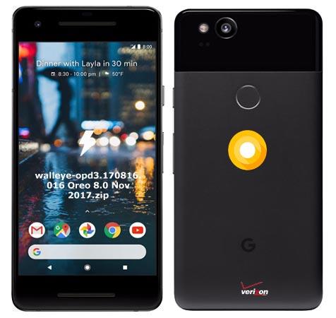 Google Pixel 2 Verizon OPD3.170816.016 Oreo 8.0
