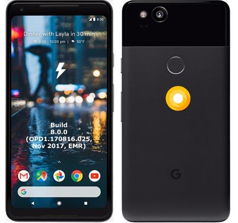 Google Pixel 2 XL OPD1.170816.025 Oreo 8.0