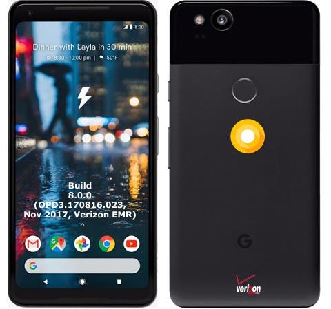 Google Pixel 2 XL Verizon OPD3.170816.023 Oreo 8.0