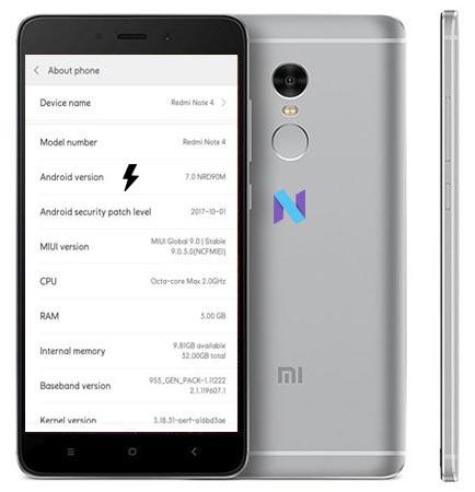 Xiaomi Redmi Note 4 MIUI 9 Nougat Official ROM