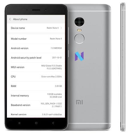 Xiaomi Redmi Note 4 MIUI 9 OTA Update