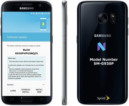 Samsung S7 Sprint SM-G930P November 2017 OTA