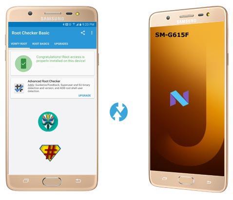 Samsung Galaxy J7 Max SM-G615F Nougat CF-Root
