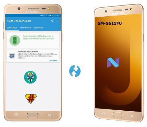 Samsung Galaxy J7 Max SM-G615FU Nougat CF-Root