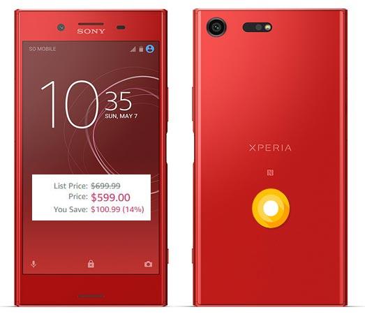 Sony Xperia XZ Premium Red Available US Amazon $599