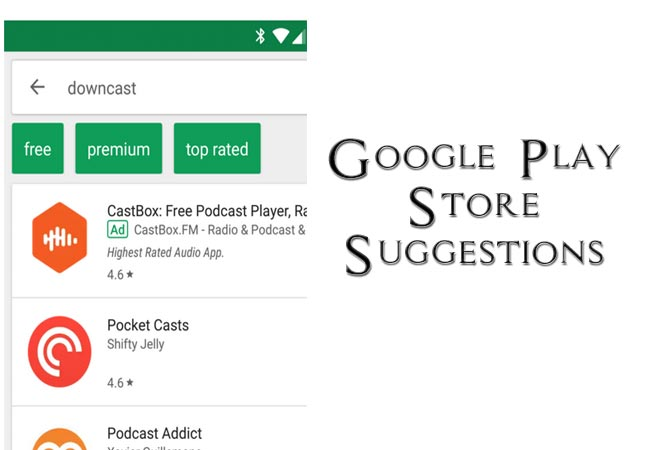 Google Play Store Suggestions Makes Search Easier