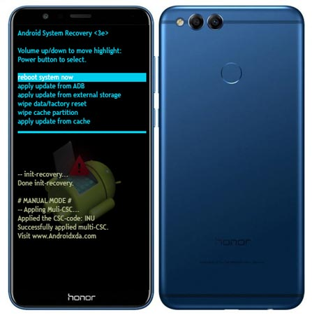 Huawei Honor 7X Modes and Respective Keys