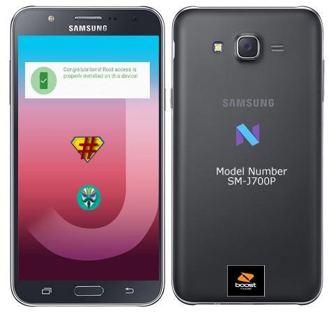Root Samsung Galaxy J7 Boost Mobile SM-J700P Nougat 7.1.1