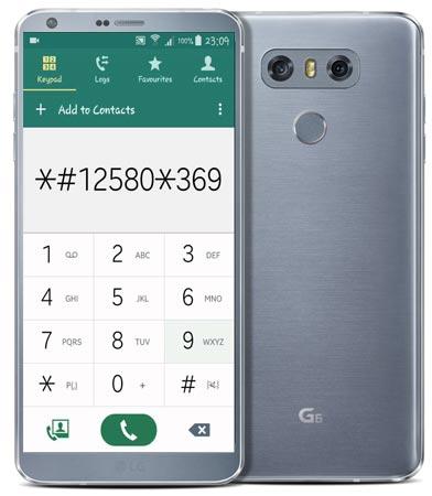 LG G6 Codes-Useful Checking Secret Codes