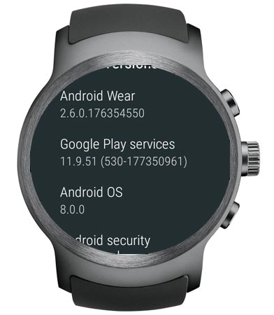 LG Watch Sport W281 Oreo OTA 8.0 Update