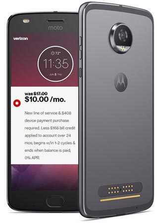 Moto Z2 Play Verizon Holiday Sale December 2017 Deal For $168
