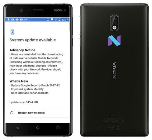 Nokia 3 December 2017 OTA Update