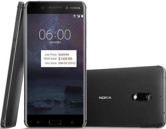 Nokia 6 Amazon December 2017 Deal For $150