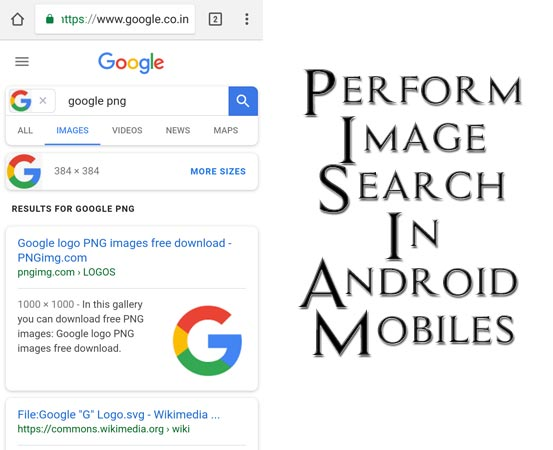 Perform Image Search Android Mobiles