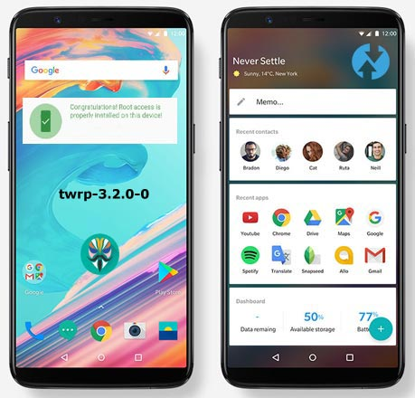 Install TWRP 3.2.0 OnePlus 5T Official Version