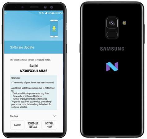 Samsung Galaxy A8 Plus 2018 SM-A730F January 2018 OTA A730FXXU1ARA6