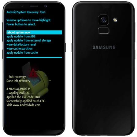 Samsung Galaxy A8 2018 Modes and Respective Keys