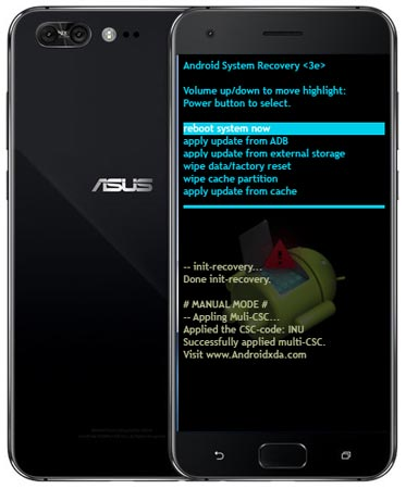 Asus Zenfone 4 Pro ZS551KL Modes Respective Keys