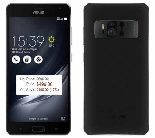 Asus Zenfone AR January 2018 Deal 499