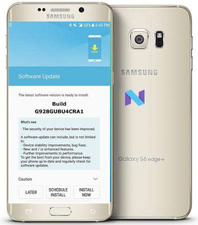 Samsung Galaxy S6 Edge Plus SM-G928G January 2018 OTA G928GUBU4CRA1