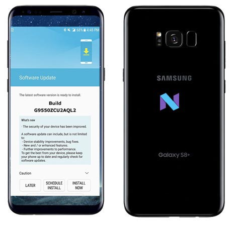 Samsung Galaxy S8 Plus SM-G9550 January 2018 OTA G9550ZCU2AQL2