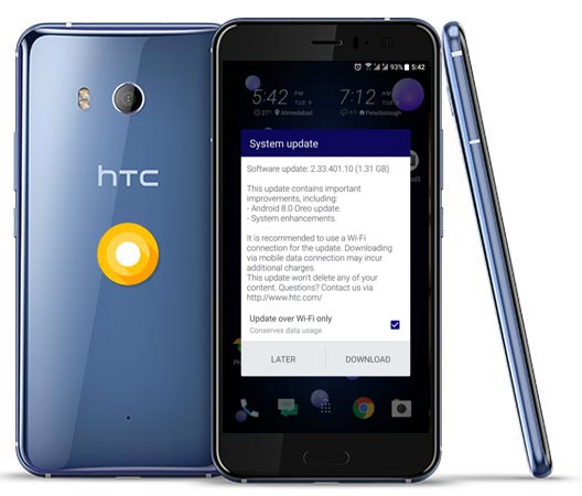 HTC U11 Oreo OTA Update EMEA Region
