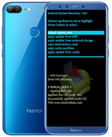 Huawei Honor 9 Lite Modes and Respective Keys