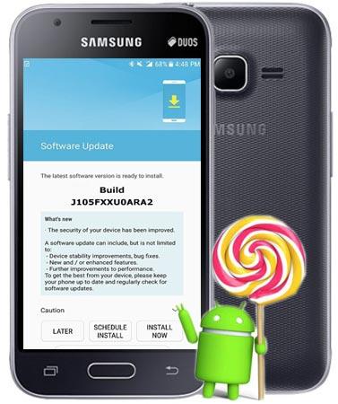 Samsung Galaxy J1 Mini SM-J105F January 2018 OTA J105FXXU0ARA2