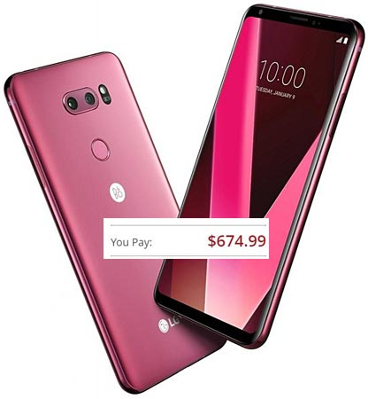 LG V30 Raspberry Rose Launched US Online Stores For $675