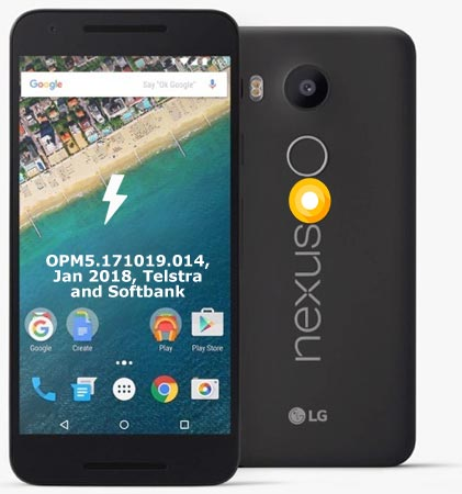 Google Nexus 5X Telstra Softbank OPM5.171019.014 Oreo 8.1 Firmware Official