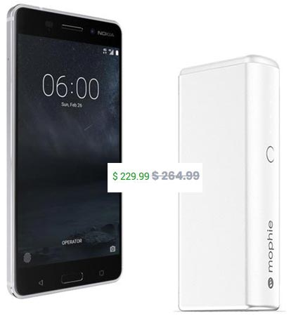 Nokia 6 January 2018 Deal Free 5200 Mah Powerbank $200