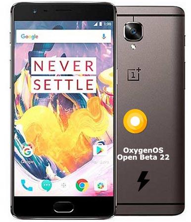 OnePlus 3T OxygenOS Open Beta 22 Firmware