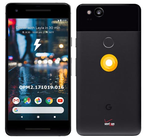 Google Pixel 2 Verizon OPM2.171019.016 Oreo 8.1 Firmware Official