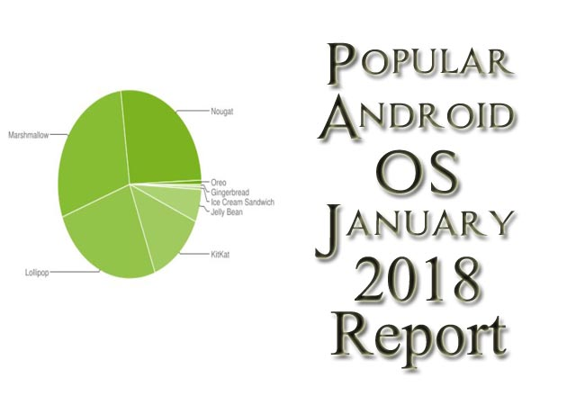 Popular Android OS January 2018 Report