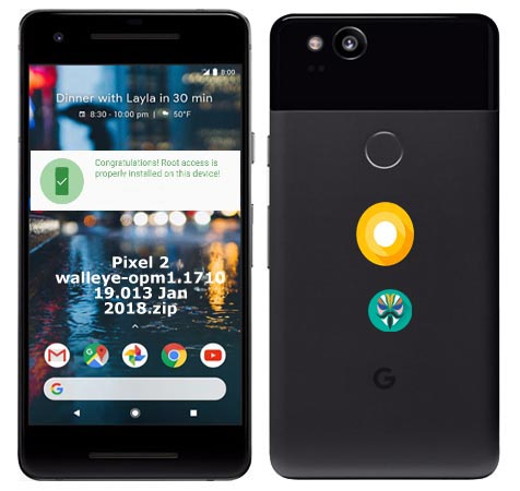 Root Google Pixel 2 Oreo 8.1 OPM1.171019.013 Install TWRP