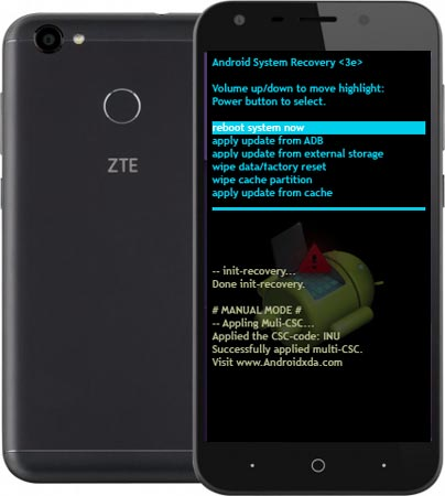 ZTE Blade A6 Modes and Respective Keys