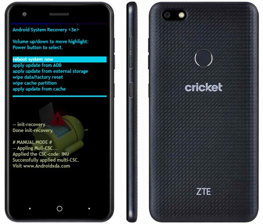 ZTE Blade X Modes and Respective Keys