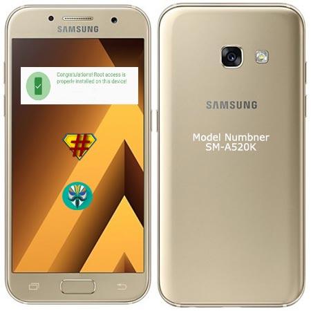 Root Samsung Galaxy A5 2017 SM-A520K Nougat 7.0