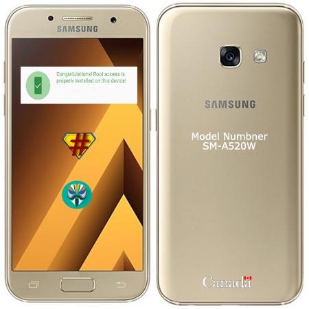 Root Samsung Galaxy A5 2017 Canada SM-A520W Nougat 7.0