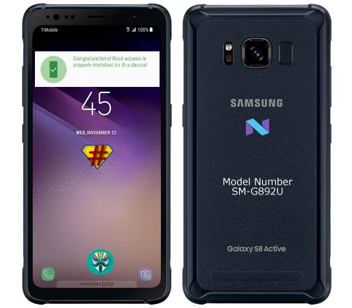 Root Samsung Galaxy S8 Active SM-G892U Nougat 7.0 Install TWRP