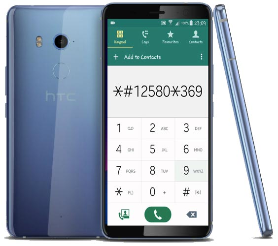 HTC U11 EYEs Codes-Useful Checking Secret Codes