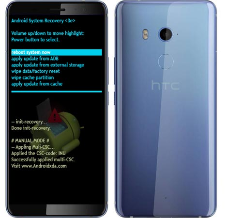 HTC U11 Plus Modes and Respective Keys