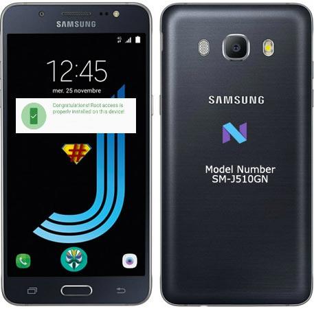 Root Samsung Galaxy J5 2016 SM-J510GN Nougat 7.1.1 Install TWRP