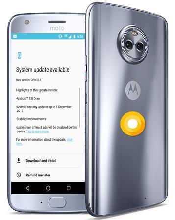 Moto X4 Amazon Exclusive Oreo Official OTA 8.0 Update