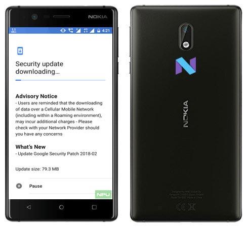 Nokia 3 February 2018 OTA Update