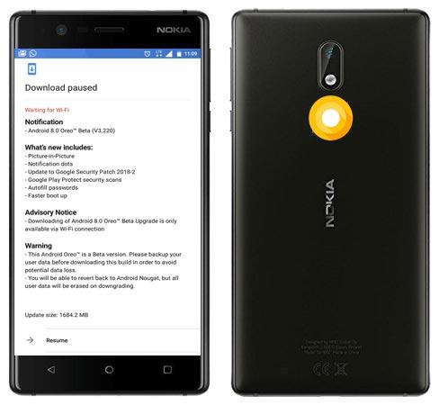 Nokia 3 Oreo Beta OTA 8.0 Update